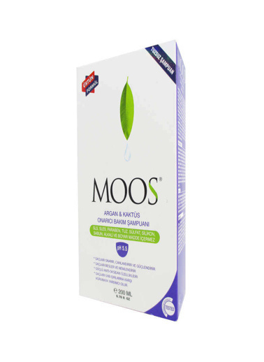 Moos Moos Argan and Cactus Repair Intensive Care Shampoo 200ml Renksiz